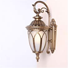 Outdoor Wall Light Mains Powered Traditional Style Outdoor Security IP44 Waterproof Wall Light Lantern Wired Sconce External Wall Lighting for Garden Hallway Door E27