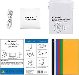 PULUZ Dual Light Lightbox Mini 40Pcs LED Light Room foliding Photography Lighting Softbox Tent Photobooth Backdrop USB Cub...
