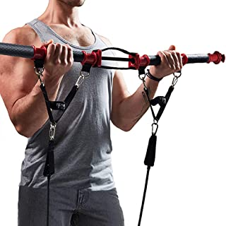TENSION TONER - Develop Total Body Strength and Lean Muscle - Over 70 Full Body Exercises - Patented Home Gym System - Best Traveling Gym