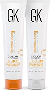 GK HAIR Global Keratin Moisturizing Shampoo and Conditioner Sets (100ml) for Color Treated Hair - Daily Use Cleansing Dry ...