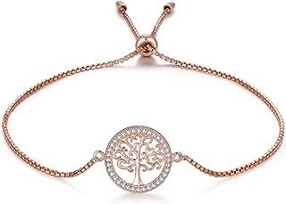 MEGA CREATIVE JEWELRY Family Tree of Life 925 Sterling Silver Bracelets Crystal from Swarovski