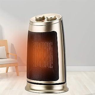 NFJ Electric Heater Climatización y calefacción Calefactores y radiadores Chimeneas eléctricas Hogar portátil Pequeño baño para Estudiantes el pequeño Sol Regalo Calentador eléctrico,Oro