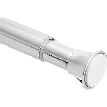 amazon basics tension curtain rod adjustable 36 54 width chrome finish