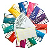 Cash Envelopes Budget System with 12 Pack of Assorted Colors - Money Envelopes for Budgeting and Money Saving, Tear & Waterproof, Includes Carry Pouch & 12 Expense Tracking Budget Sheets