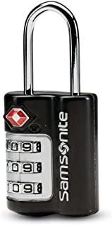 Samsonite Travel Sentry 3-dial Combination Lock, Black, One Size