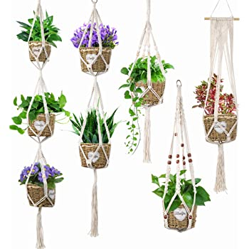 Piokikio Home Balcony Hanging Flower Pot Braided Cotton Rope Plant Pot Fire Pit /& Outdoor Fireplace Parts
