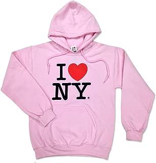 S & T World Products I Love NY Hooded Sweatshirt Womens Pink w Pocket