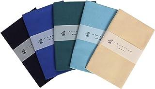 いろは カラー無地てぬぐい 5枚セット 綿100% 日本製 ほつれ防止加工なし 90×33cm Aパターン