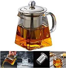PluieSoleil Dzbanek szklany zaparzacz do herbaty 350 ml wyjmowane sitko ze stali szlachetnej (350 ml)