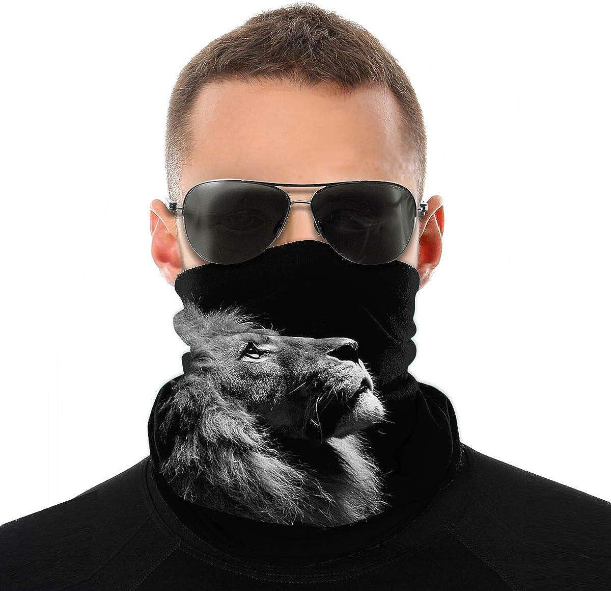 Kiuloam Bandanas Face Mask, Lion King Neck Gaiter Mask Headband for Men Women Face Scarf Dust, Outdoors, Sports