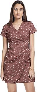 FabAlley Georgette Wrap Dress