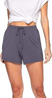 WiWi Women's Bamboo Soft Boxer Sleep Shorts Bottoms S-4XL