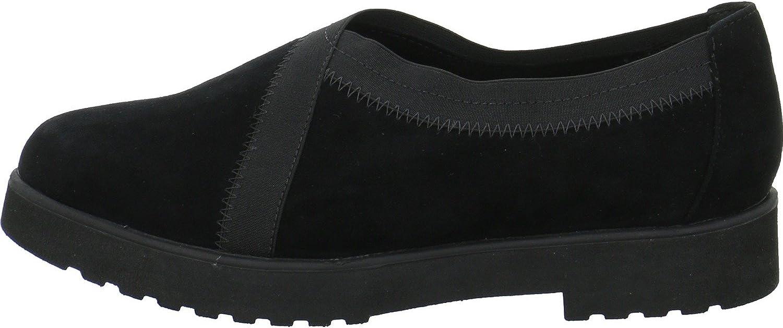 Clarks Women's Loafers , Black Sde Black Sde , 10 US
