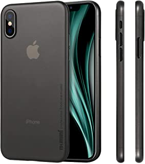iPhone X ケース 超薄型 memumi® アイフォンX カバー 0.3㎜の スリム PPハードケース Qi充電対応 指紋防止 人気ケース·カバー (クリアブラック)