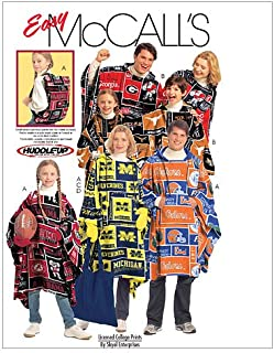 McCall's Patterns M5771 Misses'/Men's/Boys'/Girls' Ponchos, Mittens and Tote