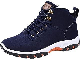 Stivali da Neve Uomo Trekking Scarpe Inverno Outdoor Antiscivolo Pelliccia Invernali Stringate Sneakers Moda Uomo Caldo Wa...