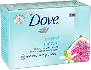 Dove Beauty Cream Bar Soaps Go Fresh Restore Moisturizing 16 Bars, 4.76 Oz/135 Grams Each