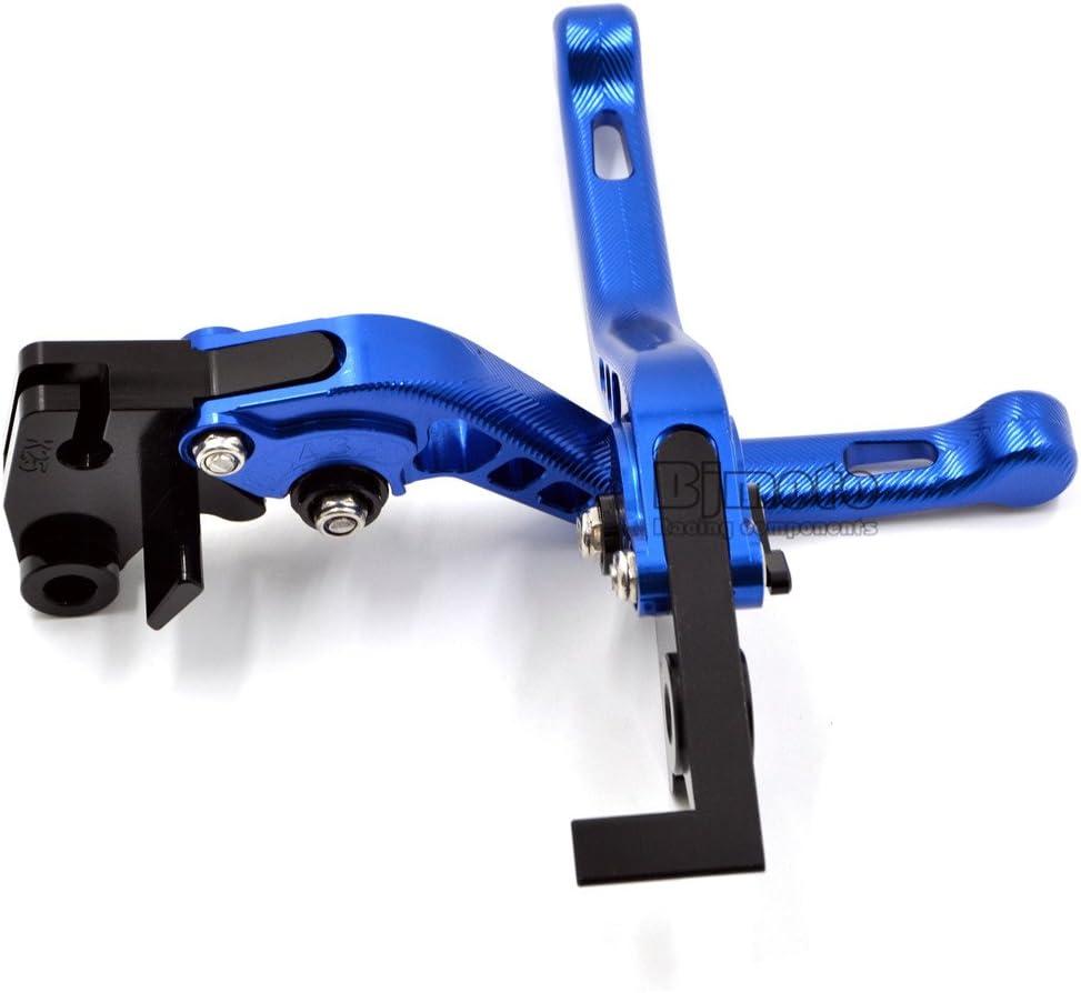 azul Palancas de embrague de freno de motocicleta CNC para Yamaha MT-07//FZ-07 MT-09//SR//FZ09 2014-2017