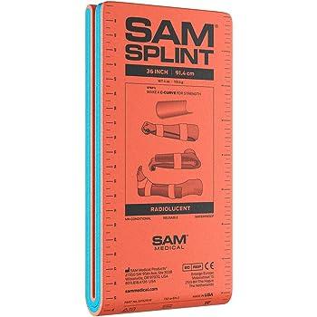 SAM Splint 36 inch Orange/Blue Flat Fold