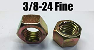 """Qty 25 1-1//8/""""-7 Grade 8 Finish Hex Nuts Yellow Zinc Plated Hardened"""