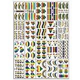 Nicololfle Rainbow Stickers,Fierté Gay Rainbow Stickers Drapeau Tatouages...