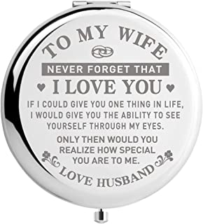 Travel Makeup Mirror for Wife, Wife Birthday Gift Ideas, Wife Gifts for Wedding Anniversary Christmas Valentines Day, Mothers Day Gifts for Her (MIR-WIFE-ABILITY)
