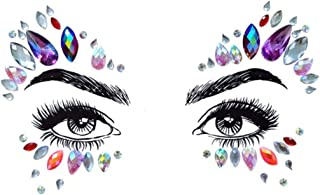 Rhinestone Mermaid Face Jewels tattoo - Crystal Tears Gem Stones Bindi Temporary Stickers BL26