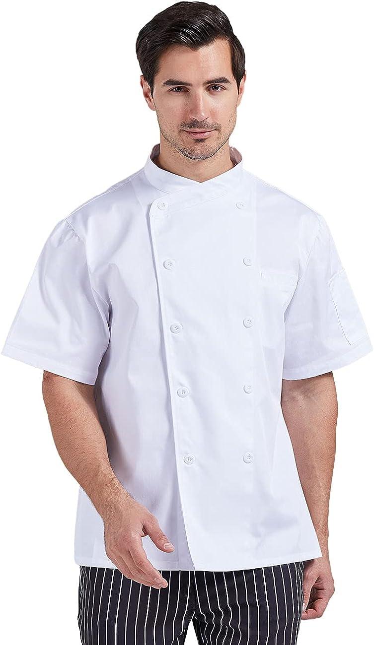 Nanxson OFFicial shop Unisex Short Sleeve Chef Men's Jac Lightweight Coat Reservation
