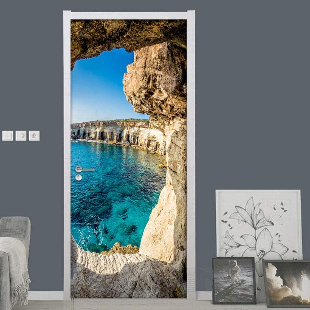 3D Door Free shipping Stickers Murals Ryutp Self-Adhesive New item Decal DIY Vinyl