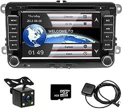 Camecho Radio para automóvil GPS Naviagion para VW, reproductor de CD Pantalla táctil de 7 pulgadas con ranura para tarjeta USB / SD Bluetooth Receptor FM Estéreo + Cámara trasera