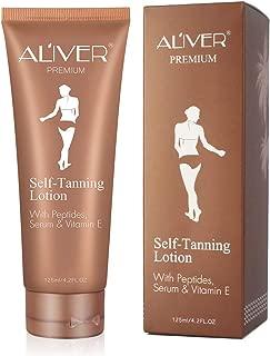 Self Tanner, Organic & Natural Ingredients No Streaks Bronzer Fake Bake Tanning Lotion-Flawless Darker Bronzer Skin, Self Tanning Lotion for Body and Face,Fake Tan