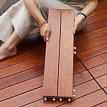 Tegels Klassieke enkele tegels, houten in elkaar grijpende terrastegels gemakkelijk te leggen voor buitenterrasplanken ter...