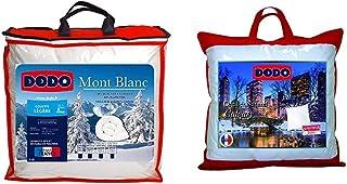 DODO Couette Mont Blanc 70% Duvet d'oie - Chaude - 220 x 240 cm & Oreiller Calgary Anti-ACARIENS 30% Duvet OIE ET Canard -...