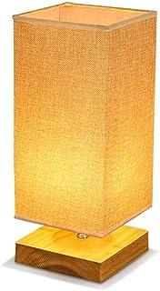 SMEJS Lámpara de Mesa de Madera Maciza Lámpara de mesilla de Noche cálida Escritorio Luz cálida Sala de Estar Dormitorio A...
