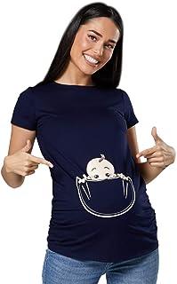 Happy Mama. Para Mujer Camiseta premamá T-Shirt estampado