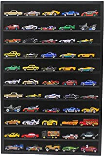 1:64 Scale Toy Cars Wheels Matchbox Model Cars Display Case Cabinet - NO Door (Black) Hot-HW10-BL