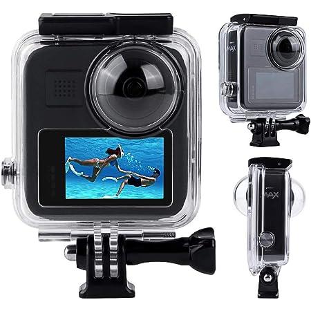 Huobo GoPro MAX パノラマアクションカメラ防水ケース、水中保護ケース、ダイビングカバーアクセサリー(防水深さ45M)