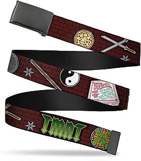 Buckle-Down Unisex-Adults Web Belt Ninja Turtles, Classic Tmnt