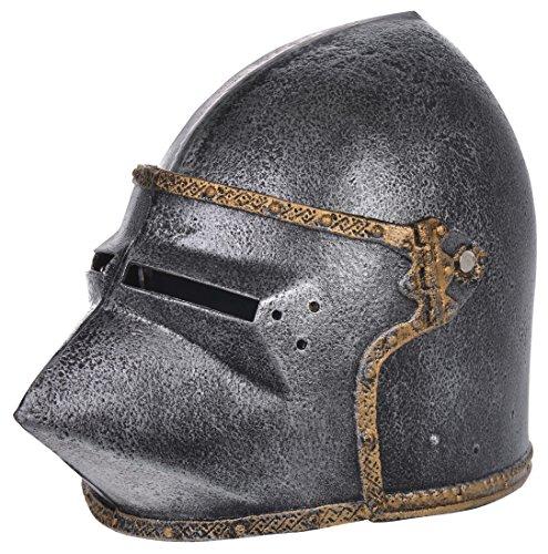 Helm eines mittelalterlichen Kriegers. Spielhelm