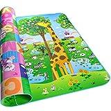 HBlife Kinderspielteppich Spielmatte Spielteppich Schaumstoffmatte Baby Kleinkind Crawl Mat Spielmatte Babyschleichenmatte Picknick-Decke 200 * 180 cm (4) -