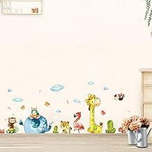Cartoon Animal Party Wall Stickers Decal Kids Adhesive Vinyl Wallpaper Mural Baby Girl Boy Room Nursery Decor