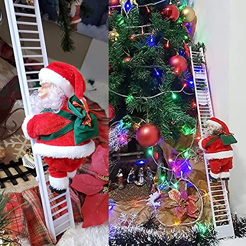 U/D Scala di Arrampicata Babbo,Arrampicata Babbo Natale,Scala di Arrampicata Babbo Natale Figurine di Natale Ornamento Decorazione per Decorazioni Natalizie Regali di Natale per Bambini