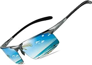 Mens Polarized Carbon Fiber Sunglasses UV Protection Sports Fishing Driving Sunglasses for Men...
