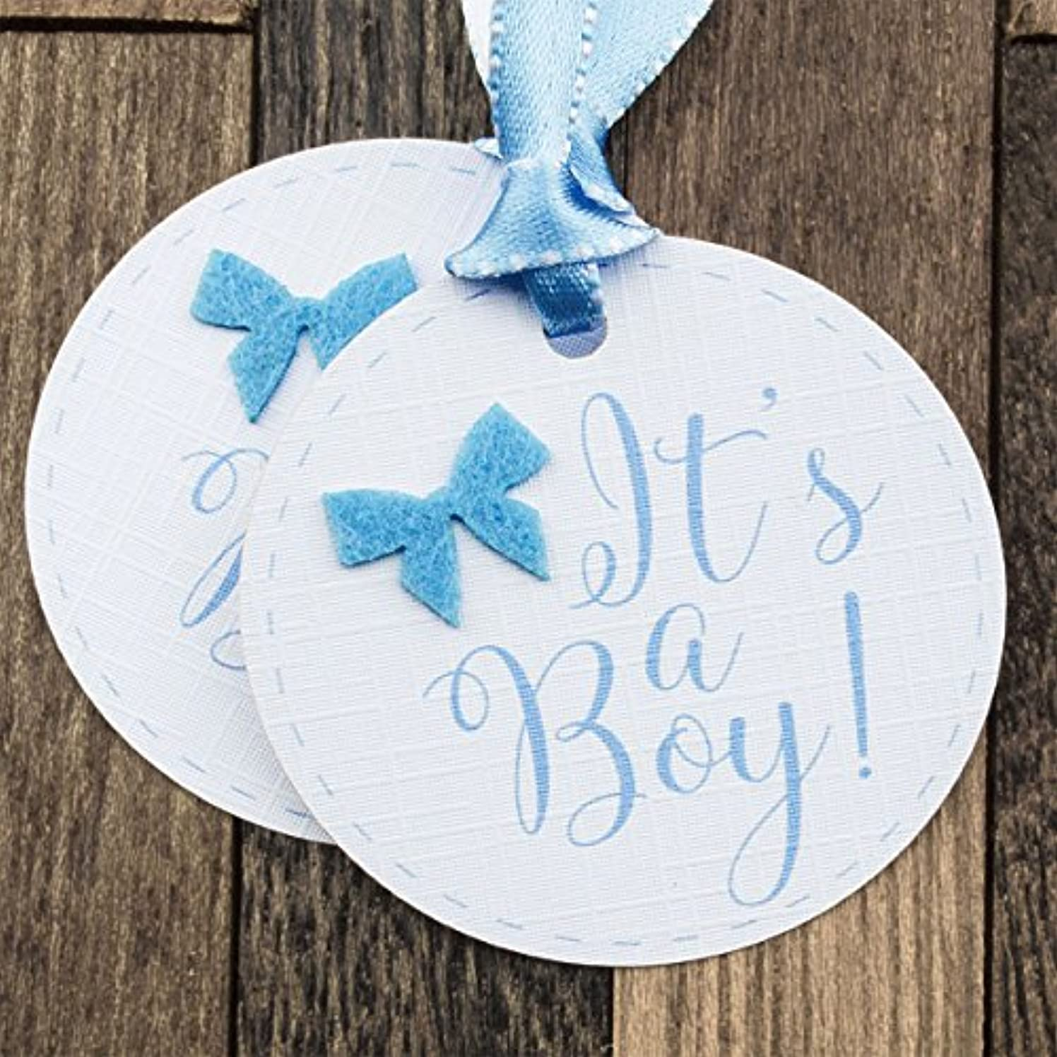 Summer-Ray 50pcs It's a Boy Baby Shower Favor Gift Tags