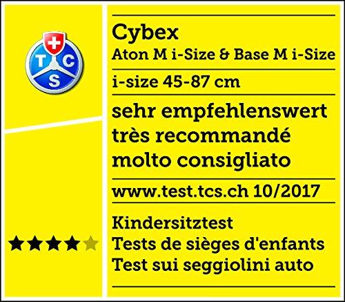 Cybex Gold Aton M I-Size 518000071 Silla de Coche, Grupo 0+, 45-87 cm, max. 13 kg, Rosa (Passion Pink)