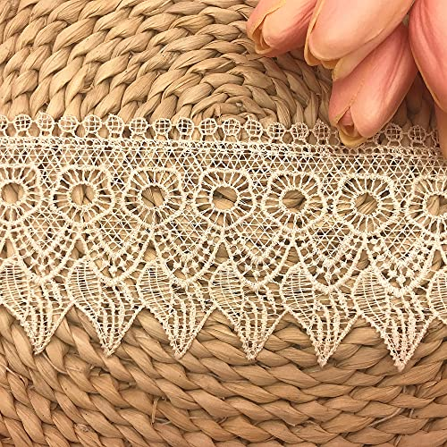 Little lane lace 9 cm de ancho, diseño de velas europeas, bordado...