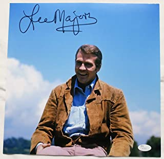 Lee Majors Signed Big Valley Authentic Autographed 12x12 Photo JSA #S79203