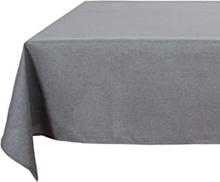 Deconovo Modern Style Spillproof Table Cover Faux Linen Table Cloth for Picnic 54x54 Inch Grey