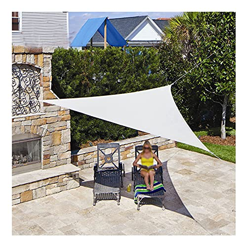 Toldo Vela de Sombra Triangular 3x3x4,3m, Toldo Parasol Impermeable Protección UV Resistente para Patio Exteriores Jardín Terraza, con Cuerda Libre(Size:4 * 4 * 5.7m/13'*13'19')