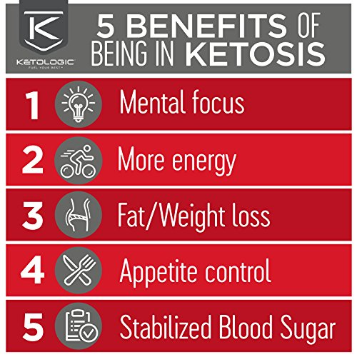 Product Image 6: KetoLogic Keto Meal Replacement Shake with MCT, Strawberry | Low Carb, High Fat Keto Shake | Promotes Weight Loss & Suppresses Appetite | 20 Servings